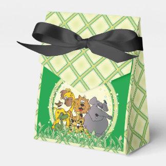 Animales del bebé de la selva del safari cajas para detalles de boda