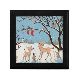Animales del bosque del invierno cajas de regalo