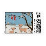 Animales del bosque del invierno sellos