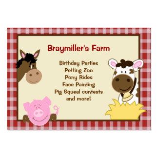 Animales del campo caballo, vaca, tarjetas de visi tarjeta de visita