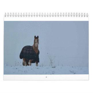 Animales del campo calendario de pared