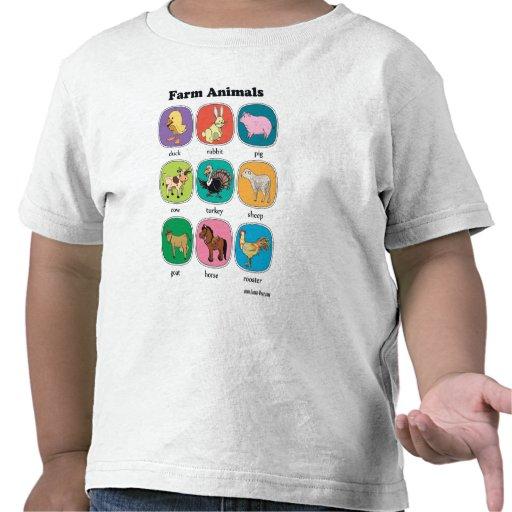 Animales del campo camiseta