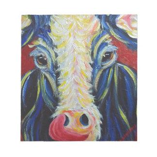Animales del campo de la vaca del impresionismo blocs de notas