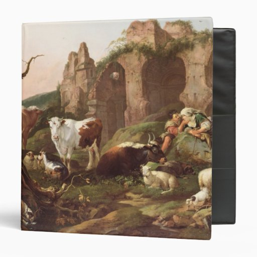 """Animales del campo en un paisaje, 1685 carpeta 1 1/2"""""""