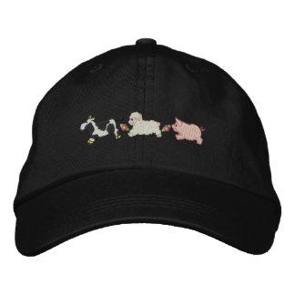 Animales del campo gorra de béisbol bordada