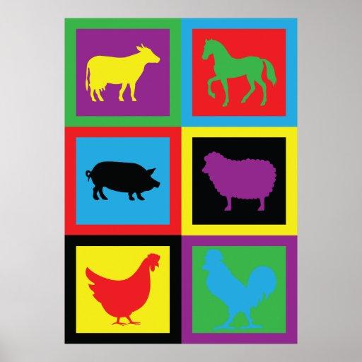 Animales del campo impresiones