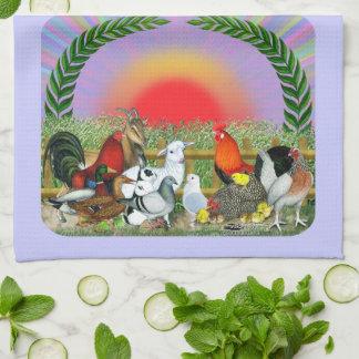 Animales del campo toalla