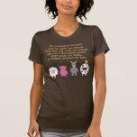 Animales del dibujo animado de la cita de los dere camiseta