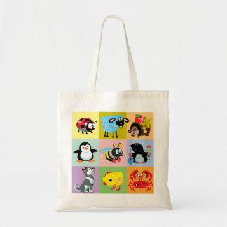 animales del dibujo animado para los niños