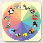 animales del dibujo animado para los niños posavasos