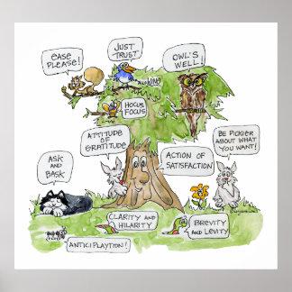 Animales del dibujo animado que hablan el poster d