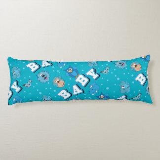 Animales del parque zoológico del bebé azul cojin cama
