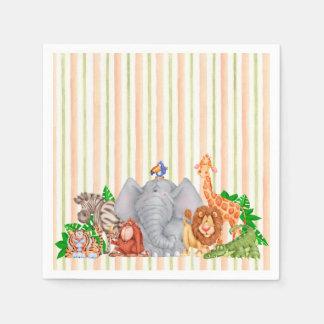 Animales del parque zoológico - servilletas servilleta de papel
