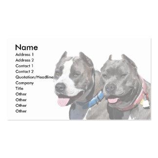 Animales del perro de Pitbull de la raza del matón Tarjeta De Negocio
