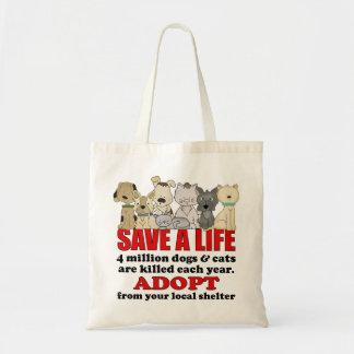 Animales del rescate bolsas de mano