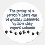 Animales del respeto pegatinas redondas