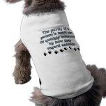 Animales del respeto ropa perro