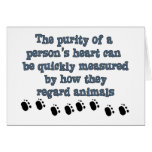Animales del respeto tarjeton