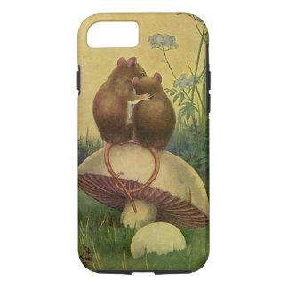 Animales del vintage, amor y ratones de campo del funda iPhone 7