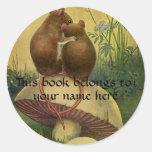 Animales del vintage, Bookplate de los ratones de  Pegatinas