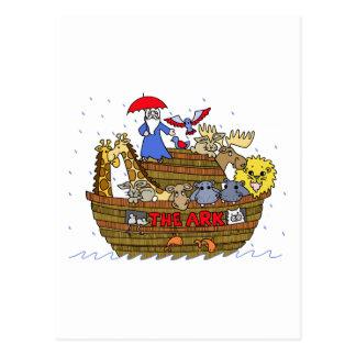 Animales dos por dos en la arca de Noah Postal