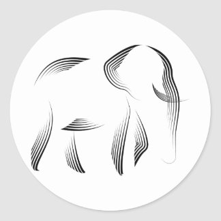 Animales - elefante pegatina redonda