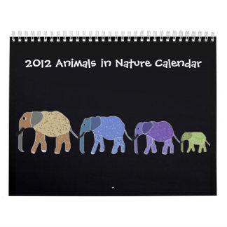 Animales en calendario de la naturaleza