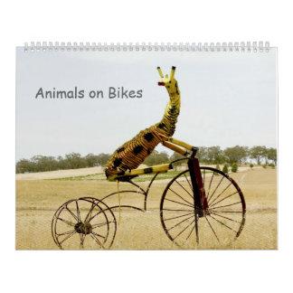 Animales en calendario de las bicis