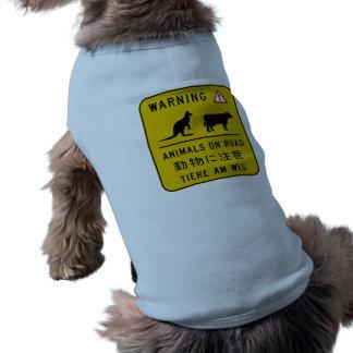 Animales en el camino, señal de peligro, Australia Prenda Mascota