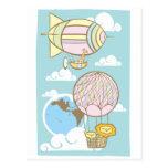 Animales en el cielo tarjeta postal