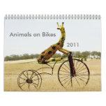Animales en el jinete 2011 de Ezy de las bicis Calendario De Pared