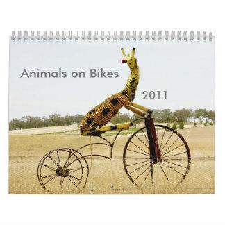Animales en el jinete 2011 de Ezy de las bicis Calendarios De Pared