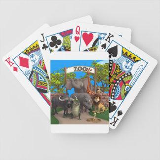Animales en el parque zoológico barajas de cartas
