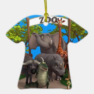 Animales en el parque zoológico ornamento de reyes magos