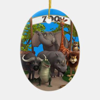 Animales en el parque zoológico ornamento para reyes magos