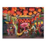 Animales en la ciudad de China Postal