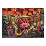 Animales en la ciudad de China Tarjeton