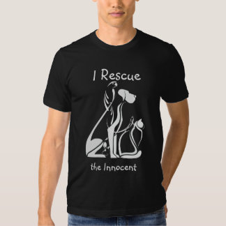 Animales estilizados del rescate animal playera