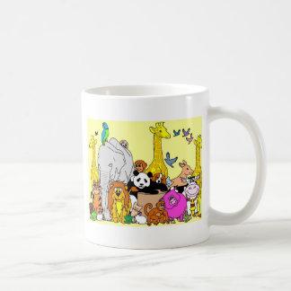 Animales felices taza clásica
