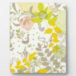 animales florales lindos placas de madera