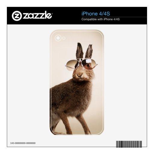 Animales frescos en gafas de sol skin para el iPhone 4