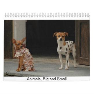 Animales, grande y pequeño calendarios