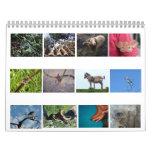 Animales grandes y pequeños calendarios de pared