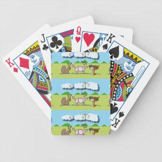 Animales lindos baraja cartas de poker