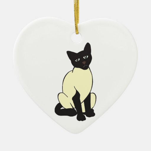 Animales lindos del destino del mascota del gato adorno de cerámica en forma de corazón