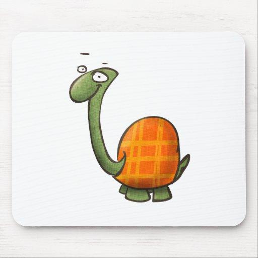 animales lindos del dibujo animado - tortuga tapete de ratones