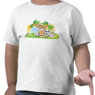 Animales lindos del parque zoológico del dibujo an camisetas