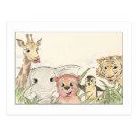 Animales lindos postales