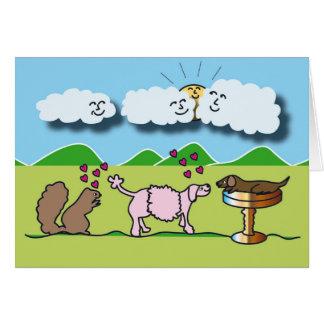Animales lindos tarjeta de felicitación