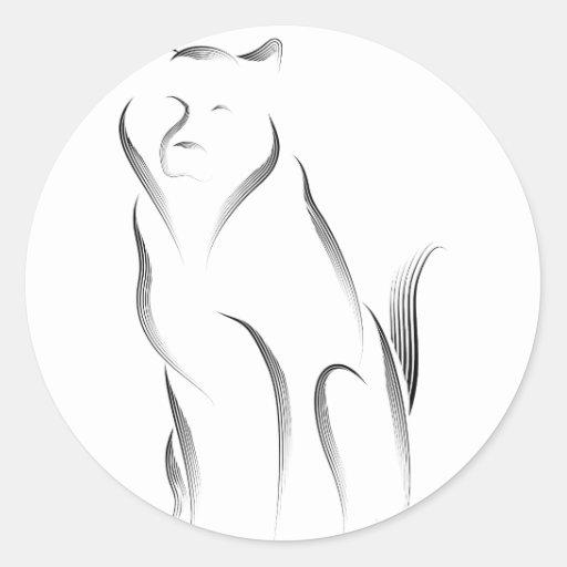 Animales - Malamute Pegatinas Redondas